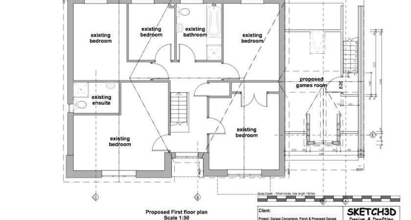 Floor Plan Existing First Elevations Proposed