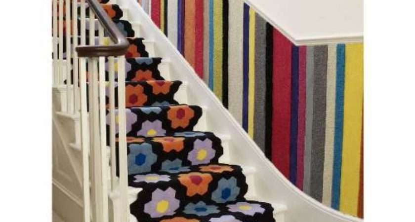 Floral Carpet Runner Stairs Interior Design