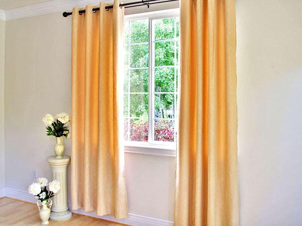 Floral Emblem Grommet Top Curtain Panel Pair