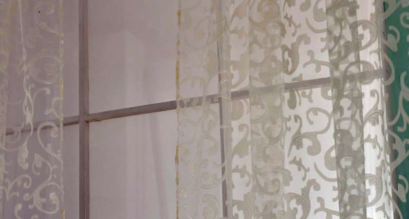 Floral Pattern Voile Room Window Curtain Sheer Panel