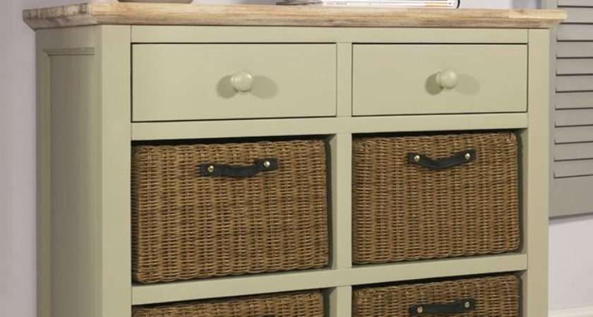 Florence Sideboard Drawers Storage Baskets