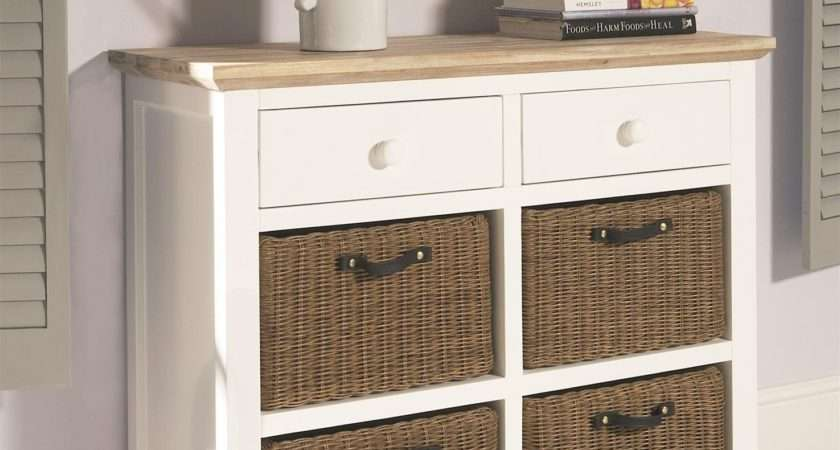Florence White Sideboard Storage Baskets