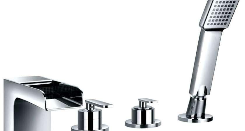 Flova Cascade Hole Bath Shower Mixer Tap Handset