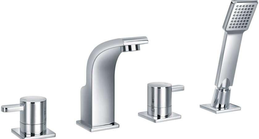 Flova Essence Hole Bath Shower Mixer Tap Handset