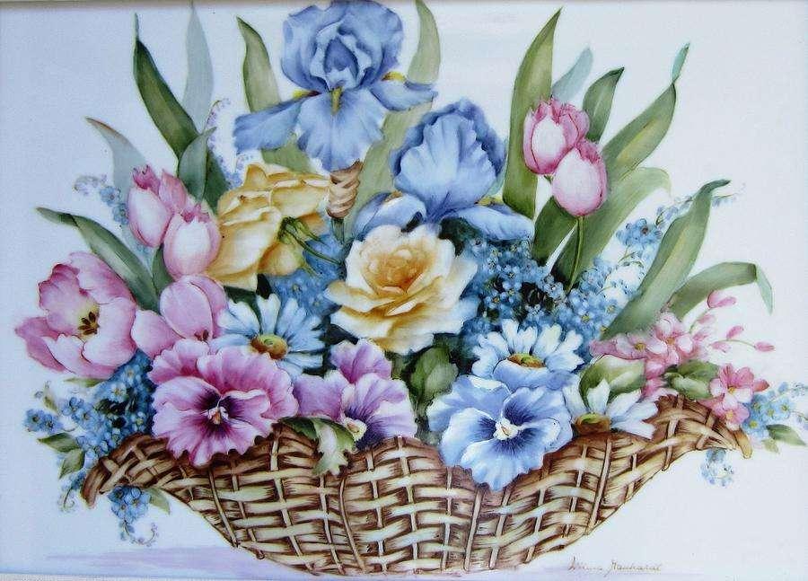 Flower Basket Ceramic Art Wilma Manhardt Which