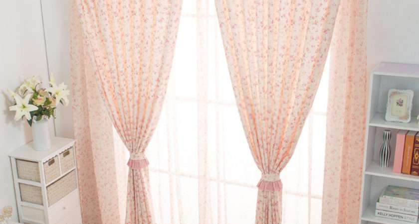 Flower Patterns Home Suitable Country Bedroom Curtains