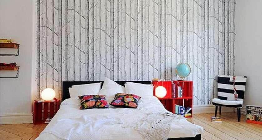 Focusing One Wall Bedroom Swedish Idea Using