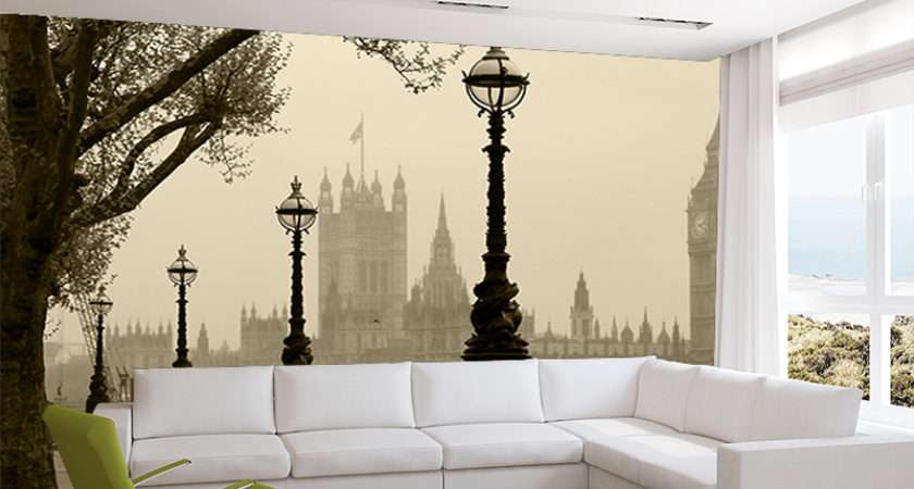 Foggy London Wall Mural Murals Ink