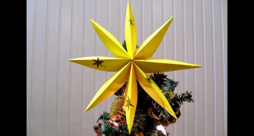 Fold Star Christmas Tree Decoration Youtube