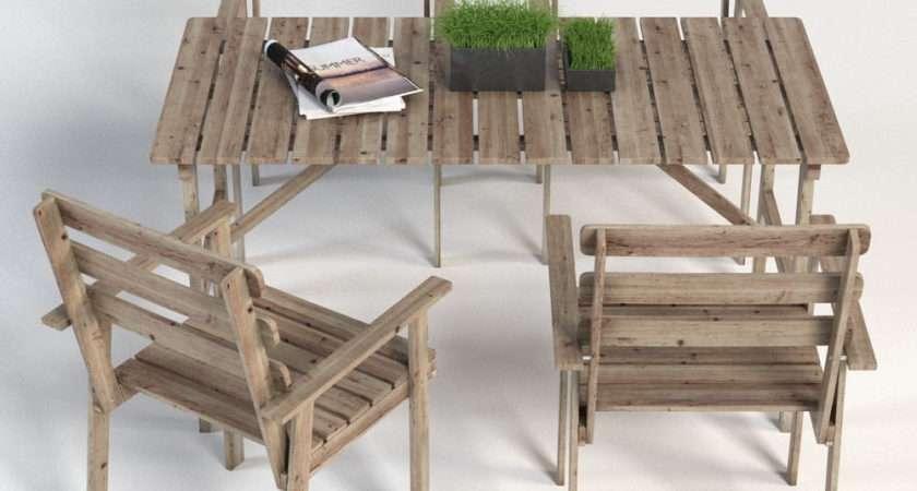 Folding Garden Table Chairs Wooden Ikea