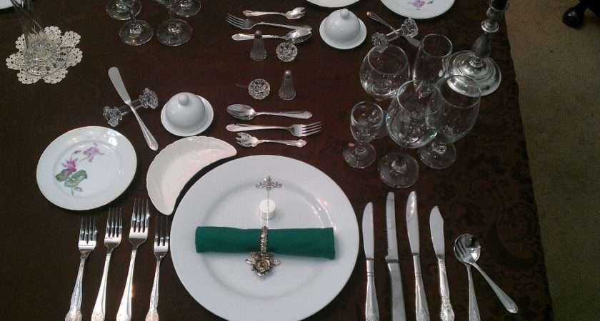 Formal Place Setting Wikimedia Commons