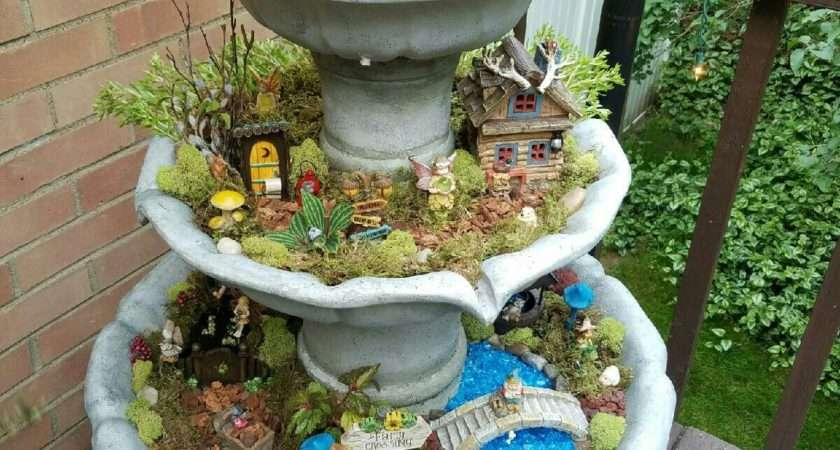 Fountain Fairy Garden Gardening New Ideas