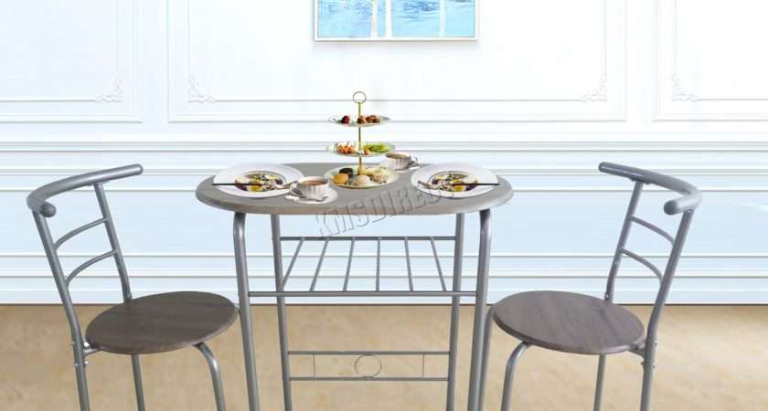Foxhunter Compact Dining Table Breakfast Bar Chair Set