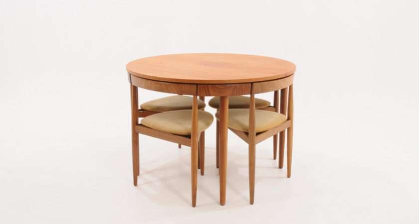 Frem Rojle Extending Danish Dining Table Tripod Chairs