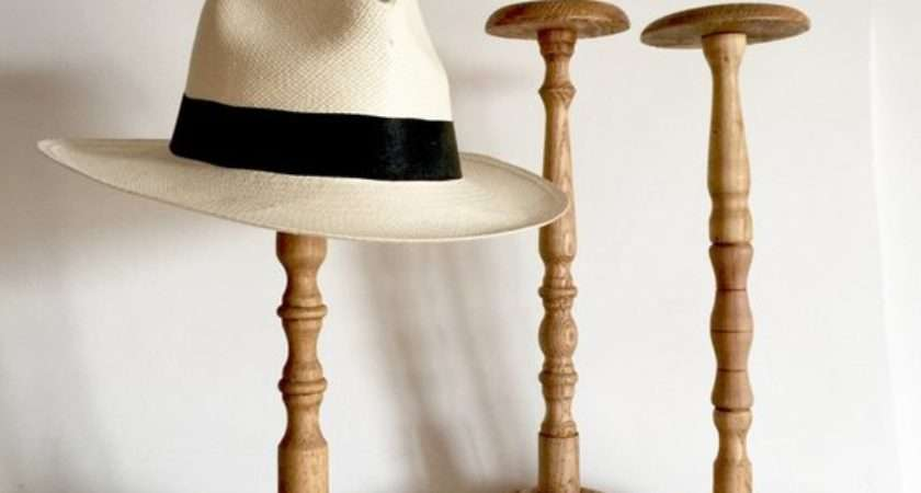 French Antique Wood Hat Stand Medium Inches