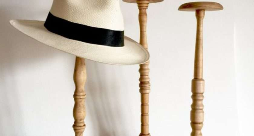 French Antique Wood Hat Stand Tall Stands Inches