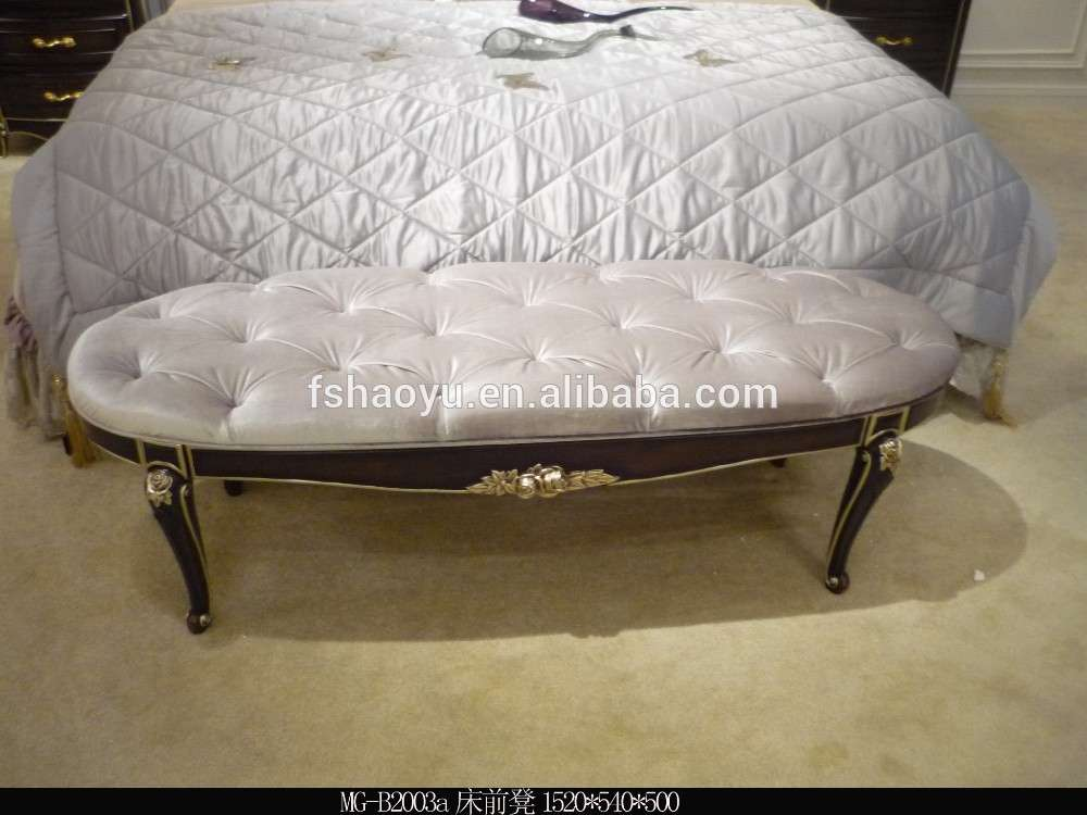 French Living Room Bed Stool Foot Antique End