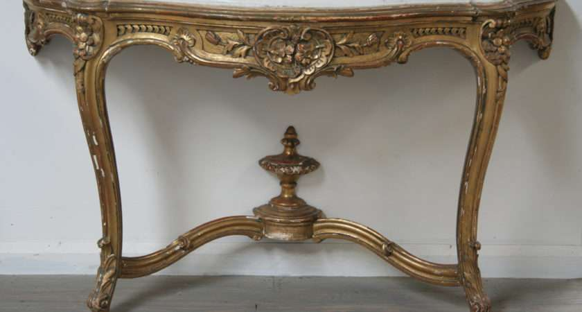 French Louis Style Gilt Console Table Haunt Antiques