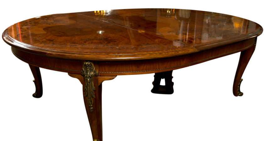 French Louis Style Inlaid Oval Dining Table Stdibs