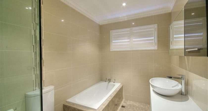 French Provincial Bathroom Design Built Shelving Using Tiles