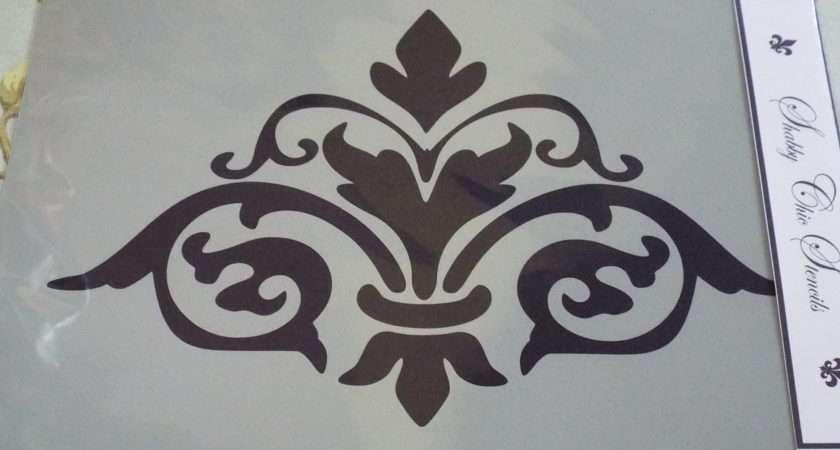 French Style Damask Stencils Furniture Shabby Chic