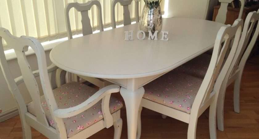 French Style Shabby Chic Dining Table Chairs Ebay