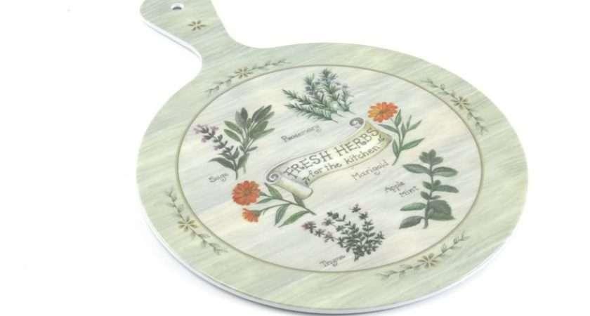 Fresh Herbs Melamine Chopping Board Work Top Saver Ebay