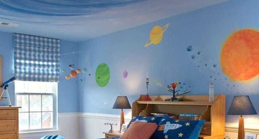 Fun Space Themed Bedrooms Boys Rilane