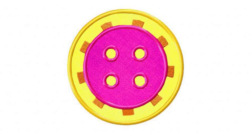 Funky Button Includes Both Applique Stitched Daily