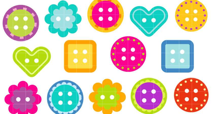 Funky Buttons Clip Art Set Daily Hub