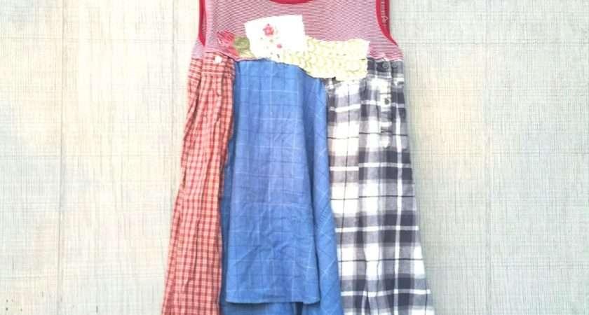 Funky Knit Cotton Fall Tunic Upcycled Romantic Creolesha
