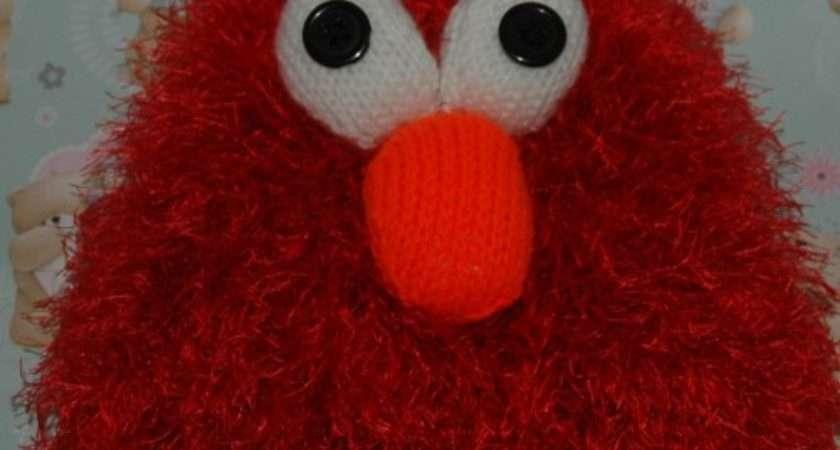 Funky Knitting Pattern Elmo Style Hat Children