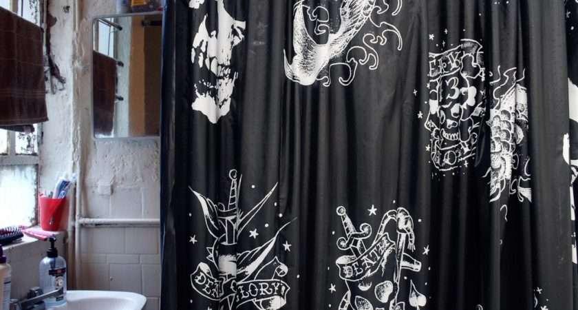 Funky Skull Shower Curtain Invado International