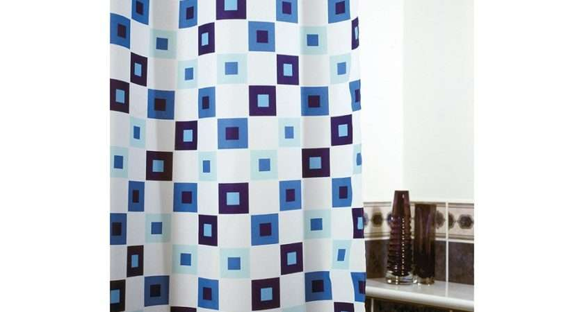 Funky Squares Shower Curtain Polyester Curtains