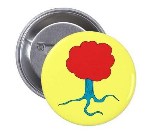 Funky Tree Button Zazzle