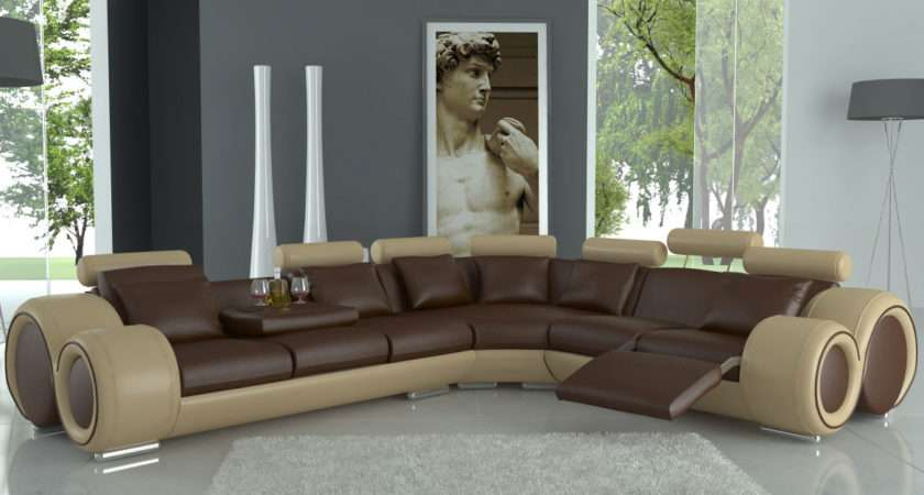 Furniture Living Room Cool Decorating Ideas Using Shaped Brown