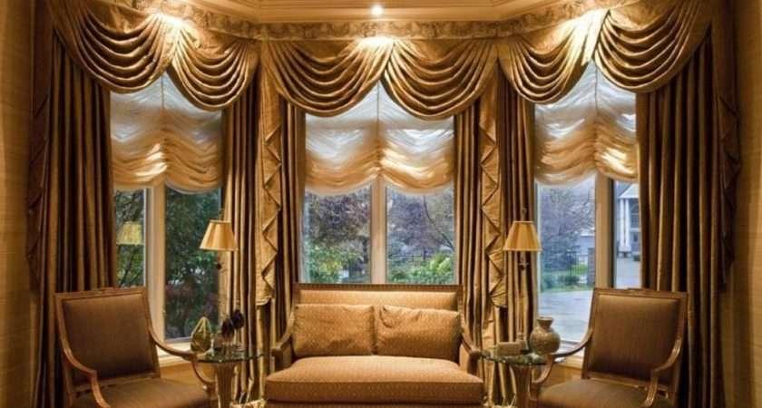 Furniture Living Room Window Treatment Brown
