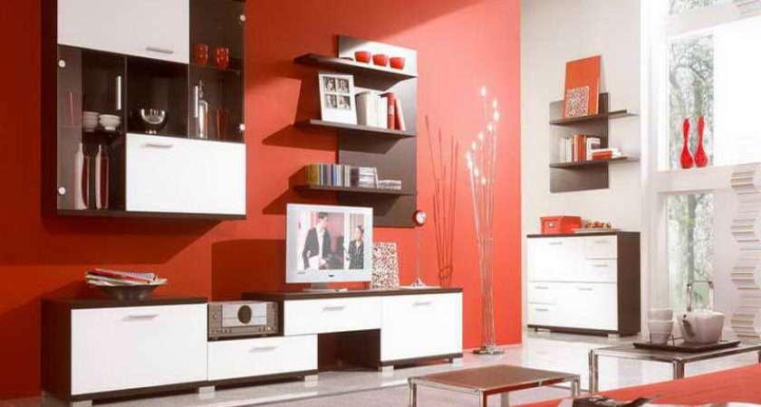Furniture Red Orange Cheap Living Room