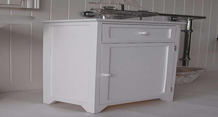 Furniture Storage Cabinet White Bathroom