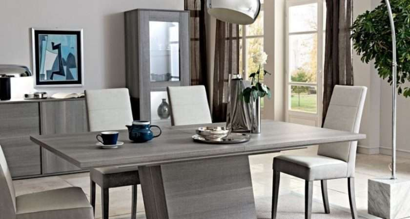 Futura Grey Dining Table Extending Modern