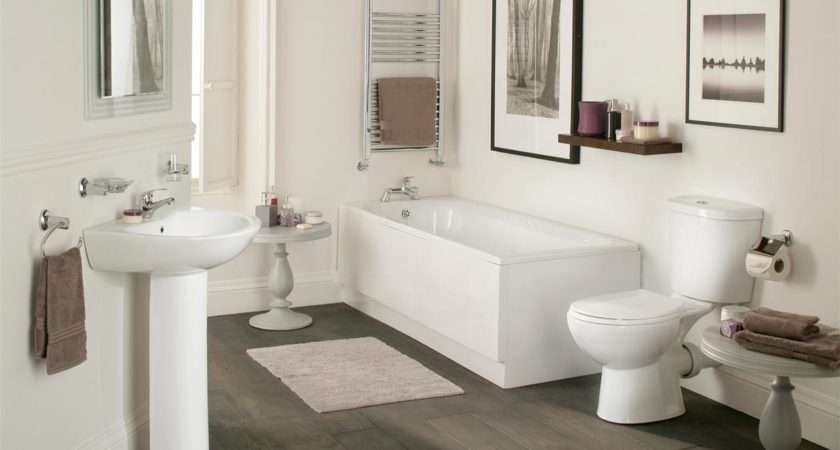 Galaxy Modern Bathroom Suite White Bath Toilet Sink Basin Pedestal