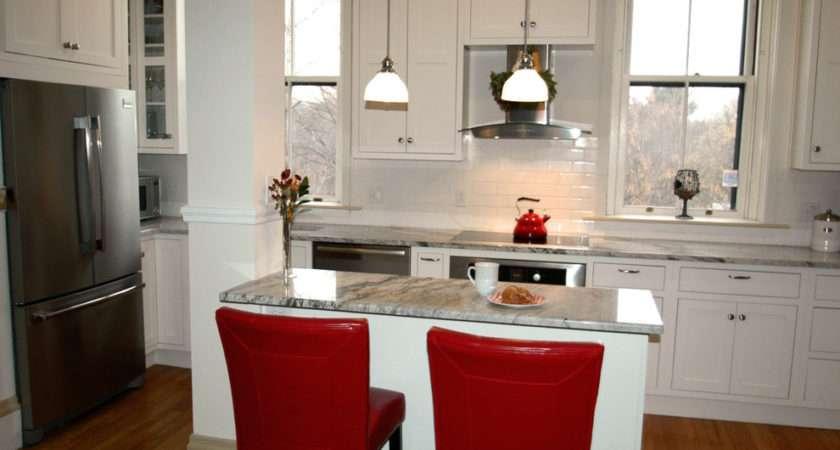 Galley Kitchen Remodel Contemporary Breakfast
