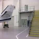 Galvanised Steel Staircase Landing Airport Hangar Morris