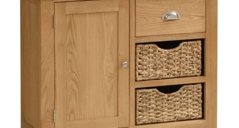 Galway Oak Small Sideboard Baskets