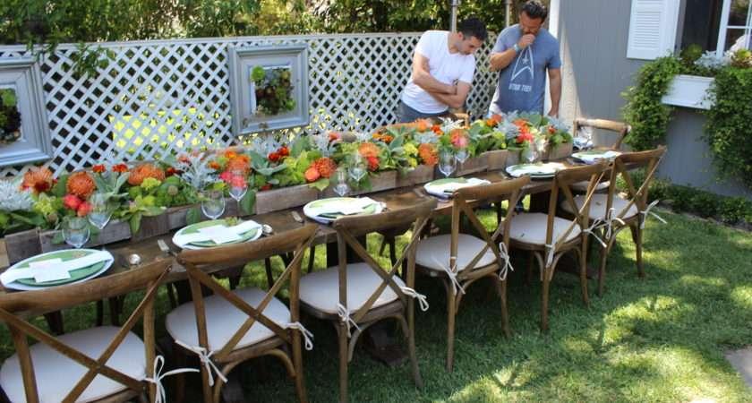 Garden Party Table Seating Ideas
