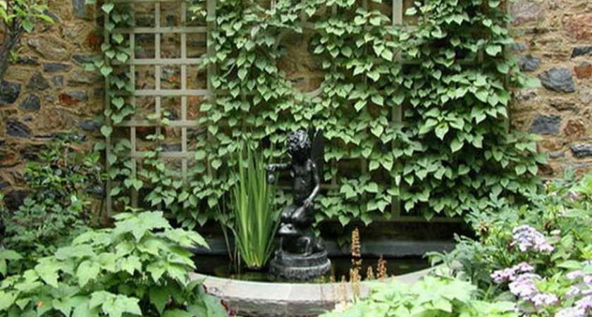 Garden Trellis Ideas Water Fountain Design