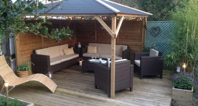 Gazebos Wooden Open Heavy Duty Garden Square Bbq Shelter