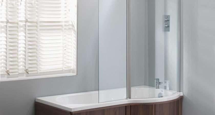 Genesis California Shaped Shower Bath Double Screen