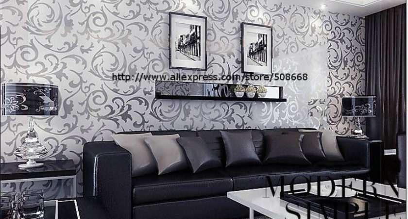 Genuine Victorian Glitter Silver Wall
