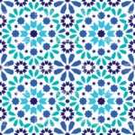 Geometric Seamless Pattern Moroccan Tiles Design